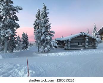 Blockhouse in lapland finland