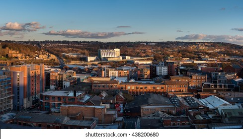Blocks of flats and social housing and high rise view of Sheffield South Yorkshire England