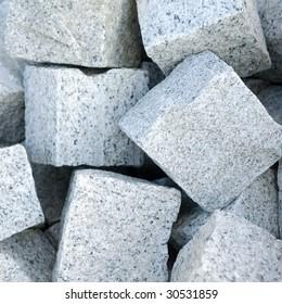 blocks of granite stone