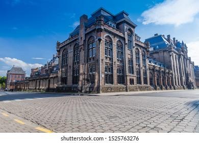 Blocks of Hoger Instituut Voor Schone Kunsten - Vlaanderen, Ghent, Belgium, July 2019.