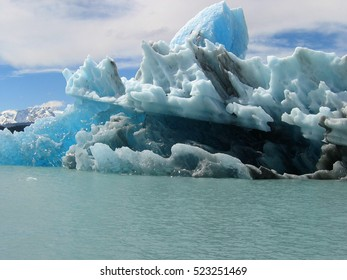 Blocks of ice floating in Lake Argentino. El Calafate. Argentina