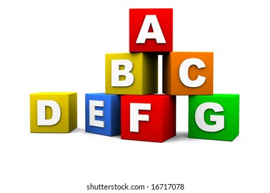 blocks with the letters of the alphabet