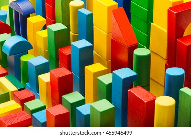 Blocks Toy Abstract Background, Organized Building Bricks, Kid Color Pieces