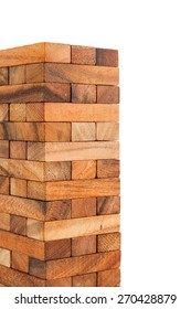 Blocks of wood isolated on white background.