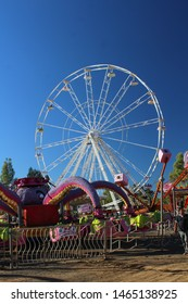 """Bloemfontein / South Africa - April 27th 2019: Amusement ride - Ferris Wheel"""