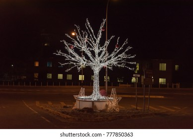 BLOEMFONTEIN, SOUTH AFRICA, DECEMBER 15, 2016: Christmas decorations on tree in the streets of Bloemfontein, the capital city of the Free State Province