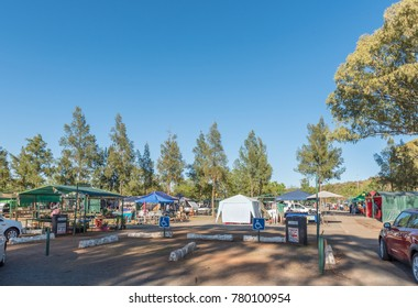 BLOEMFONTEIN, SOUTH AFRICA, DECEMBER 23, 2016: The Boeremark, a flea market with more than 500 stalls operating every Saturday in Langenhovenpark, a suburb of Bloemfontein, in the Free State Province