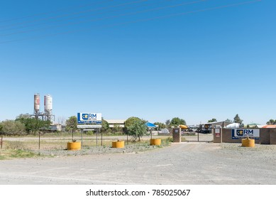 BLOEMFONTEIN, SOUTH AFRICA, JANUARY 1, 2017: A ready mixed concrete supplier in Kwaggafontein, a suburb of Bloemfontein