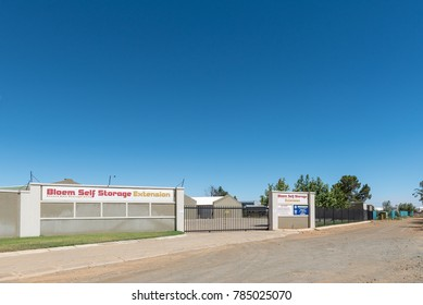 BLOEMFONTEIN, SOUTH AFRICA, JANUARY 1, 2017: A self-storage facility in Kwaggafontein, a suburb of Bloemfontein