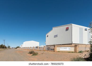 BLOEMFONTEIN, SOUTH AFRICA, JANUARY 1, 2017: Businesses in the Quagga Industrial Park in Kwaggafontein, a suburb of Bloemfontein