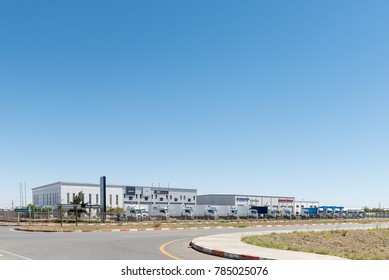 BLOEMFONTEIN, SOUTH AFRICA, JANUARY 1, 2017: A bus and truck retailer and workshop in Kwaggafontein, a suburb of Bloemfontein