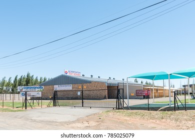 BLOEMFONTEIN, SOUTH AFRICA, JANUARY 1, 2017: Businesses in an Industrial Park in Kwaggafontein, a suburb of Bloemfontein