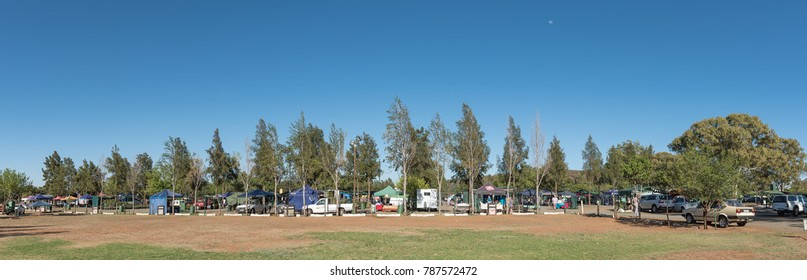 BLOEMFONTEIN, SOUTH AFRICA, JANUARY 6, 2018: The Boeremark, a flea market with more than 500 stalls operating every Saturday in Langenhovenpark, a suburb of Bloemfontein in the Free State Province