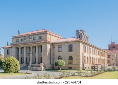 BLOEMFONTEIN, SOUTH AFRICA - JULY 19, 2015: The Court of Appeal in Bloemfontein, South Africa, was completed in 1929. The Provincial Government Building is in the back
