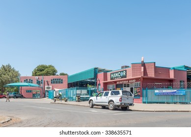 BLOEMFONTEIN, SOUTH AFRICA, NOVEMBER 12, 2015: A shopping center in Park West, a suburb of Bloemfontein, the capital of the Free State Province