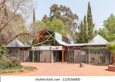 BLOEMFONTEIN, SOUTH AFRICA, SEPTEMBER 21, 2017: The entrance to the zoo in Bloemfontein in the Free State Province