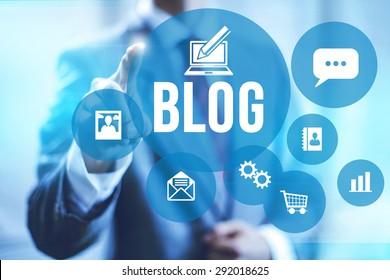 Blog and blogging concept illustration