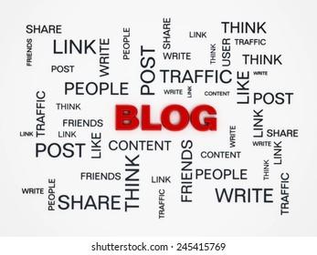Blog conceptual design on white background