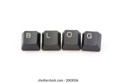BLOG formed by keys of a computer keyboard
