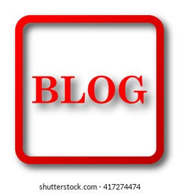 Blog icon. Internet button on white background.