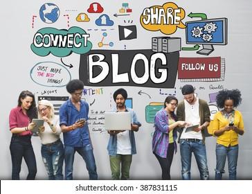 Blog Social Media Networking Content Blogging Concept