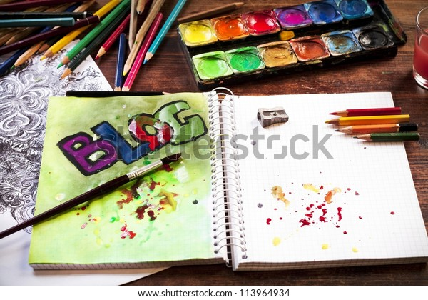 BLOG in watercolor