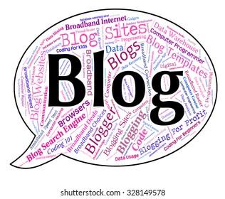 Blog Word Indicating Internet Online And Weblog