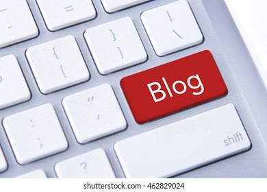 Blog word in red keyboard buttons