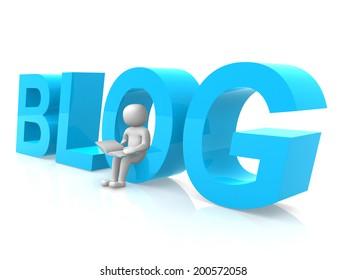 Blogger - 3d render illustration