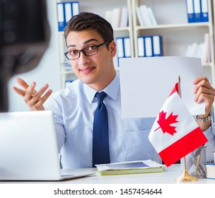 Blogger doing webcast on canadian immigration to Canada