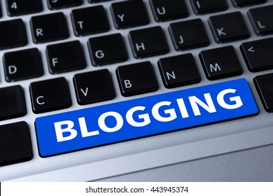 BLOGGING a message on keyboard