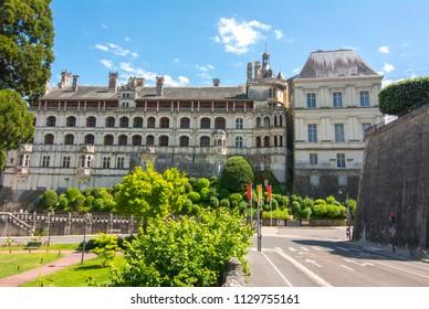 Blois castle (Chateau de Blois) in Loire valley, France