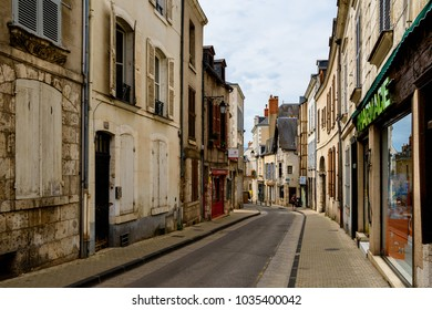 BLOIS, FRANCE - JULY, 31, 2017: Architecture of Blois, a city and the capital of Loir-et-Cher department, France