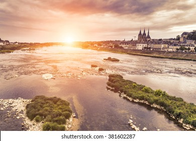 Blois - Sunset on Loire river - France - Loire Valley - France