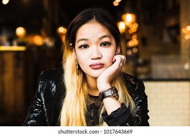 Blond Asian Girl