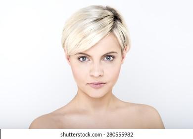 Blond atractive face