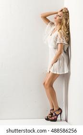 Blond beauty woman
