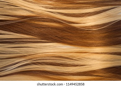 blond and brown hair texture
