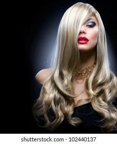 Blond Fashion Girl Portrait