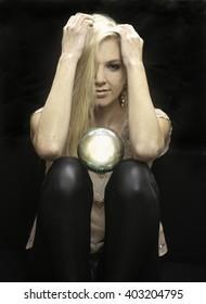 blond female fortune teller