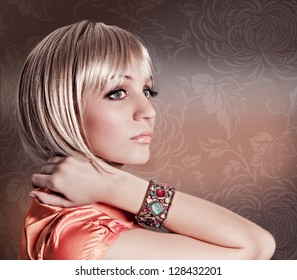 blond girl with elegant pageboy cut
