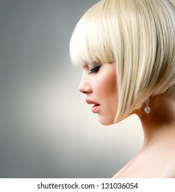 Outstanding Bob Haircut Images Stock Photos Vectors Shutterstock Natural Hairstyles Runnerswayorg