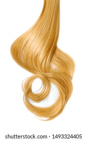 Blond hair, isolated on white background
