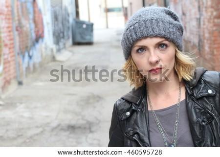 c55bcddf2de27 Blond Hipster Girl Nose Ring Stock Photo (Edit Now) 460595728 ...