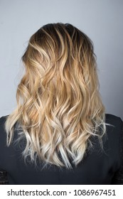 Blonde colored hair