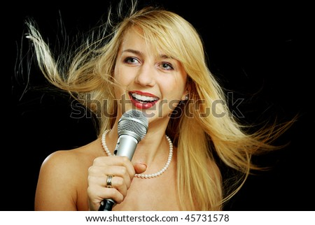 girl singing naked