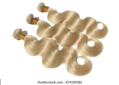 blonde virgin body wave human hair weave extensions