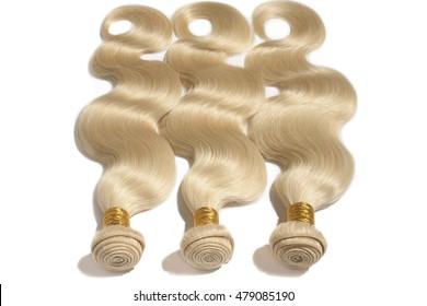 blonde virgin straight human hair weave extensions
