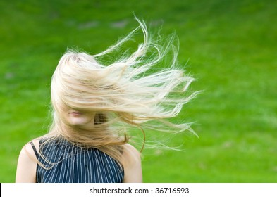 Blonde in a wind