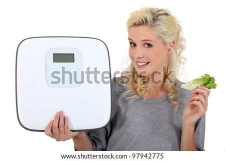 Blonde chubby mature spread